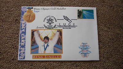 2002 Winter Olympic Gold Medal Win Cover, Armin Zoeggler Italy Luge