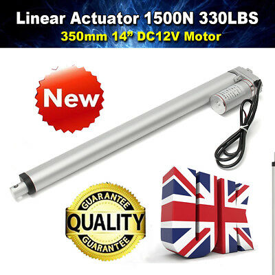 "1500N 350mm/14"" Linear Actuator Electric Motor 330LBS for Electric Lifting DC12V"
