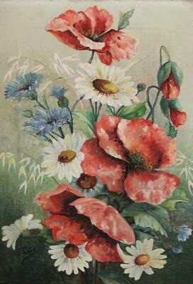 Antique Floral Oil Painting Signed
