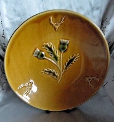 West Highland Pottery, Dunoon,Thistle & Stag Head Bowl