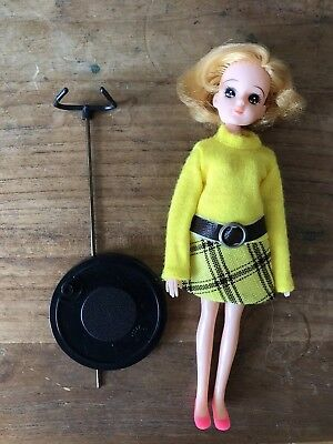 RARE Rie-chan Licca-chan 1972 Doll Japan Vintage