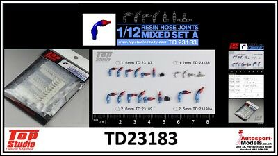 Top Studio Detailling Parts ~ Hydraulic Connector Set ~ 1/12 1/20 1/24 scale