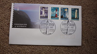 2002 Lighthouses Of Australian Fdc, 4 Stamps, Lighthouse Pm Cann River