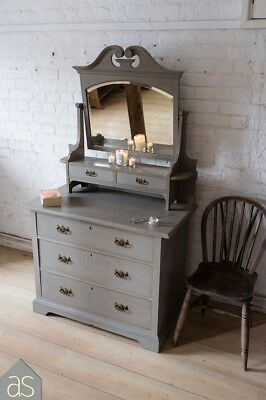 Victorian Dresser in French Linen (grey) (78)
