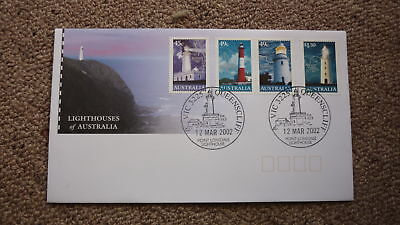 2002 Lighthouses Of Australian Fdc, 4 Stamps, Lighthouse Pm Queenscliff