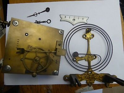 Antique wall clock movement  for parts
