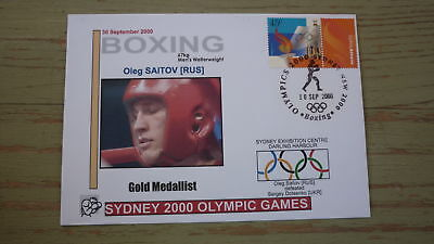 2000 Olympic Games Gold Medal Win Cover, Russia Boxing Event Gold, Welterweight