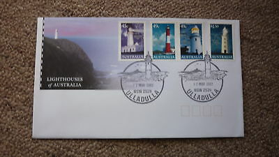2002 Lighthouses Of Australian Fdc, 4 Stamps, Lighthouse Pm Ulladulla