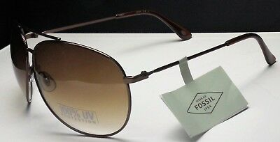 e3ef0fe1384f9 FOSSIL Aviator Sunglasses FW11 Women s Brown Frame Brown Lens 3584851712 NEW