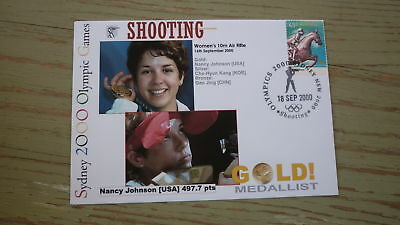 2000 Olympic Games Gold Medal Win Cover, Usa Shooting Event Gold Nancy Johnson