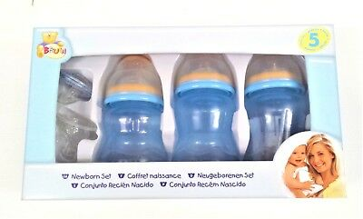 Nuby  Newborn 5 piece set available in yellow, pink, blue BPA free