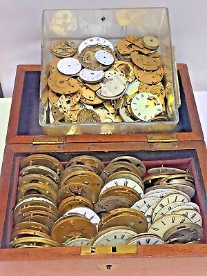 "Collection Of Antique Pocket Watch Movement's Bench Clearance ""wow L@@k"""