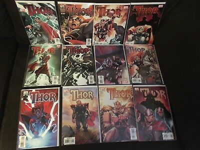 Thor Vol 3 Issues 1 - 12 600- 621 Annual Complete Run NM Marvel 2007-11