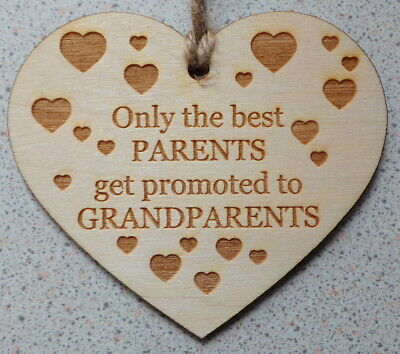 Only The Best Parents Get Promoted To Grandparents _ Heart Sign