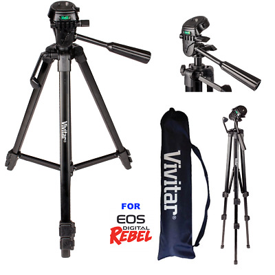 "52"" Pro Vivitar Tripod With Quick Release For Canon Eos Rebel T3 T3I T4 T5 T6"