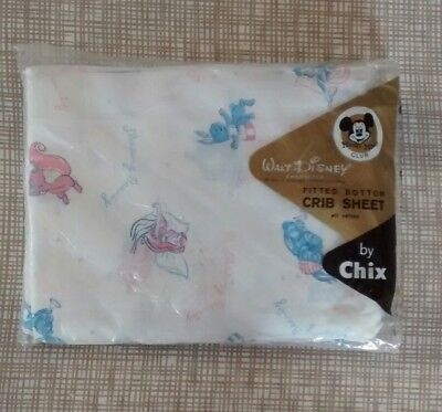 "Vintage 1958 Walt Disney ""sleeping Beauty"" Fitted Crib Sheet By Chix ~ Nos"