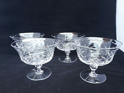 2 Stunning Vintage lead cut Crystal Dishes great quality design by Tudor (K2)