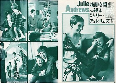 JULIE ANDREWS with Her Daughter 1968 Vintage Japan Picture Clippings 2pgs #LI/W