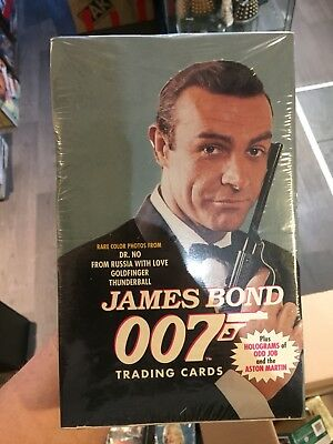 1993 James Bond 007 Trading Photo Cards Sealed Box Autograph Roger Moore Dr No