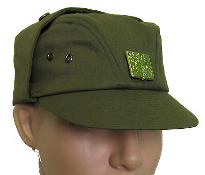 Military Surplus Czech M85 Field Cap with Emblem OLIVE DRAB - SIZE 57 (Small)