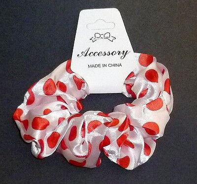 Wholesale 12 Satin  With Polka Dots Hair Scrunchies,party Bag