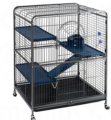 Ferret, Hamster, Chinchilla, Rat 3 Level Large Cage Pet Animal Metal House New