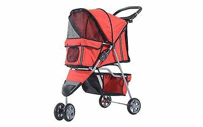 PawHut Dog, Pet Travel Pram Stroller Buggy Foldable Waterproof Oxford Cloth Grey