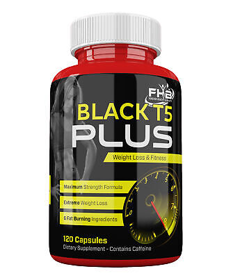 T5 BLACK Super Strong Diet Pills Slimming Tablets BURN FAT FOR FAST WEIGHT LOSS