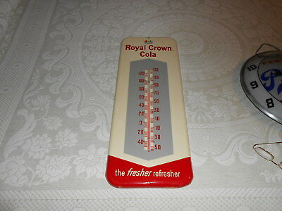1961 Royal Crown Cola Metal Thermometer Sign RC Country Store Soda NEW OLD STOCK