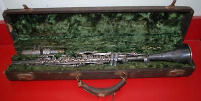 Vintage The Gladiator Nickel Plated Jazz Clarinet in Case H.N White ~98