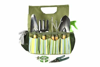 Hand Garden Gardening, Potting Tool Bag Kit, Tools, Cultivator 9 Piece Gift Set