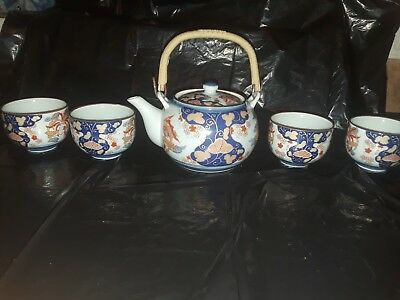 Vintage Saki Tea Set Made in China 6 Pieces
