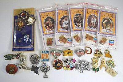 Estate Fresh Vintage Lot of Pins, military, jewelry, brooces sports, Disney