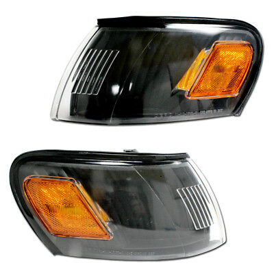 New Toyota Corolla 93-97 Amber/black Corner Lights Set Pair Same Day Shipping CA