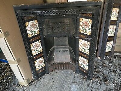 victorian fireplace with all pieces , Barn find