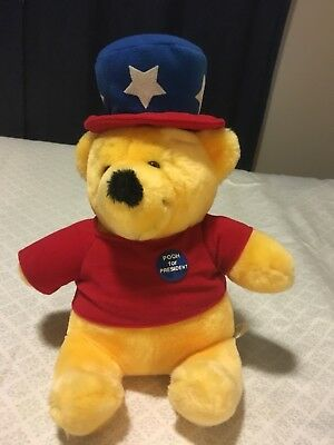 Rare Winnie The Pooh For President 1970's Disney/Sears Plush Doll.