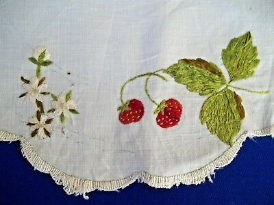 """Old Antique Society  Hand Embroidery Silk Threads Strawberries  As-Is 13"""""""