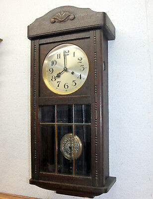 *Antique Wall Clock Chime Clock  Regulator 1920th *