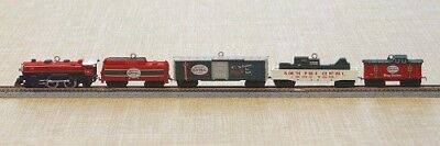 2007 Hallmark Keepsake Ornament North Pole Central Train Lionel Set of 5