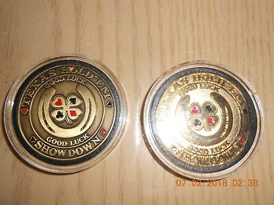 2 Card Guards In Protective Plastic Texas Hold'em Showdown Good Luck