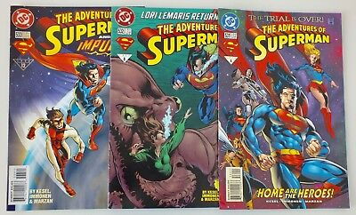 3 issues of The Adventures of Superman - # 531, 532, 533 - DC - 1996 - VF (571)
