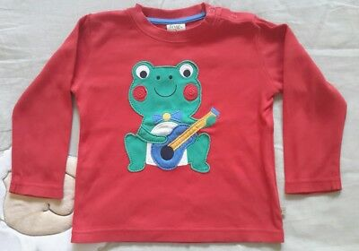 Frugi long sleeve top, boy 18-24 months, frog, organic, excellent condition