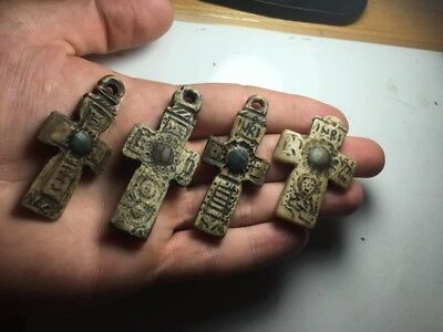Byzantine-Bone-Christian-Cross-Pendant lot 4