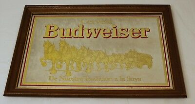 Budweiser 1980's Collectors Mirror in Spanish 190320-16