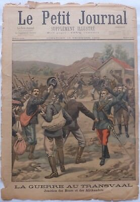 Antique print petit journal french La Guerre Au Transvaal ,1899