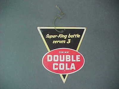 Vintage Double Cola Die-Cut Hanging Cardboard Sign (Double-Sided)