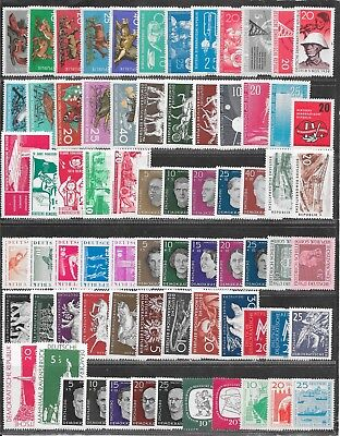 Germany, DDR, mixed mint lot, as taken from a collection. Page 1