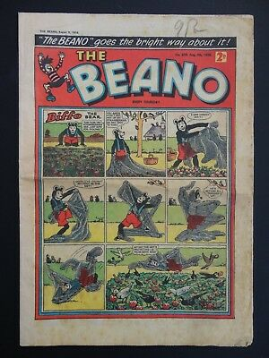 Beano Comic No. 838 - August 7-13th 1958, 60th Birthday Present / Gift, GD Copy