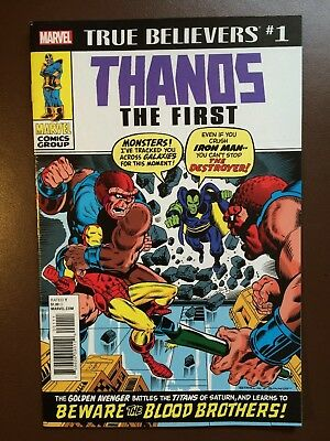 Marvel comics: TRUE BELIEVERS :THANOS THE FIRST # 1 , Iron Man # 55