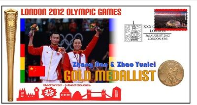 China 2012 Olympic Badminton Team Gold Medal Cover